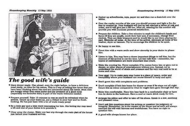 Housekeeping Weekly #goodwifeguide #goodwife #housekeepingweekly