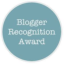 The Blogger Recognition Award.