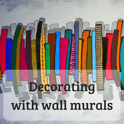 Decorating with wall murals #decorating #redecorating #wallmurals #interiors