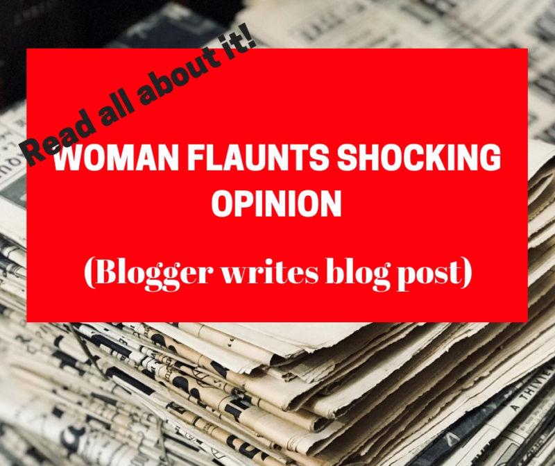 woman flaunts shocking opinion