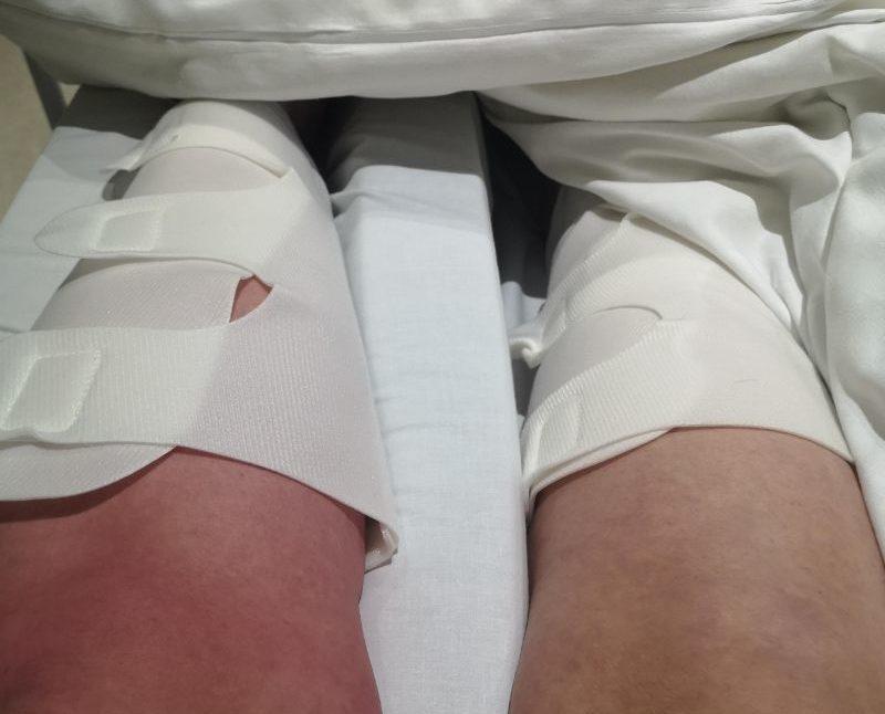 Hip replacement leg pumps